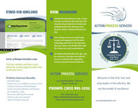 Action Process Servers Trifold Outside
