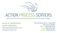 Action Process Servers Business Card
